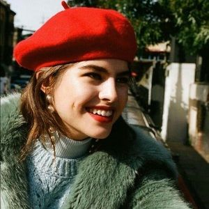 French artist burnt orange beret